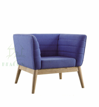 Purple fabric cup shape chair/love seat with wood legs