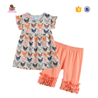 CONICE NINI brand summer children's clothing sets baby girls boutique chicken outfit