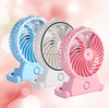 2016 year very hot sale!Portable Rechargeable Desktop Mini usb mist fan Water Air Mist Spray Fan Mini Cooling Humidifier Fan