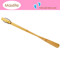 Light & Durable Extra Long Bamboo Shoe Horn w/ Nylon Loop - 22""