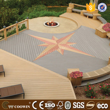 outdoor wood plastic composite art color decking