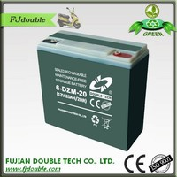 Rechargeable eletric bike battery 12v 20ah electric battery for three wheel electric motorcycle