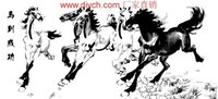 H010 running horse design painting on canvas Good quality Diy oil Paint by numbers