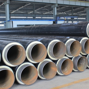 pre insulated carbon steel pipes polyurethane pipe insulation