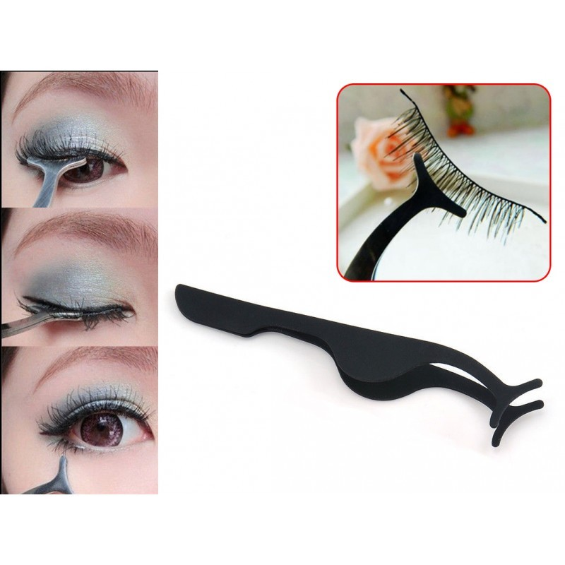 Professional False Eyelashes Extension Applicator Remover Clip Tweezers