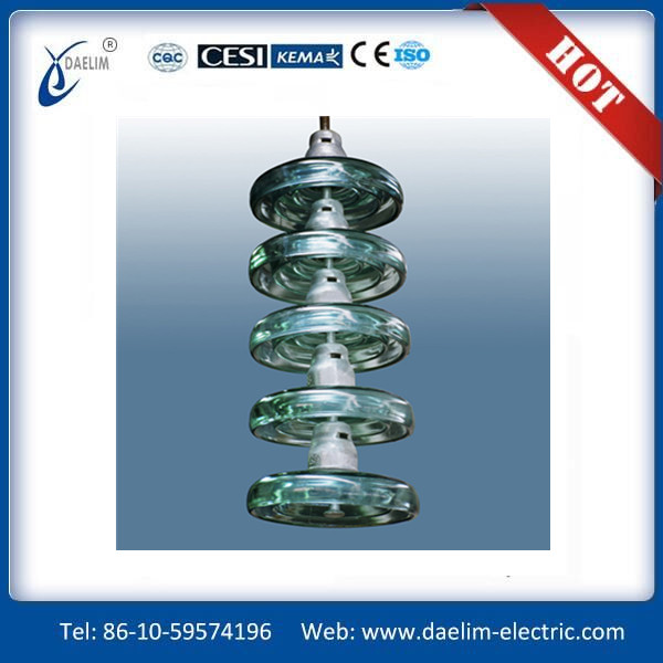 Good quality disc suspension glass insulator