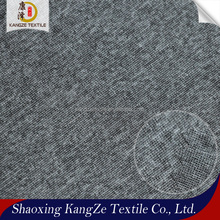 keqiao textile 100%polyester knitted stretch melange single jersey fabric for garments