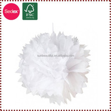 Hall decorations items white tissue paper pompoms