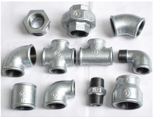 ASTM black/galvanized threaded malleable steel pipe fitting dimensions/elbow/tee/reducer