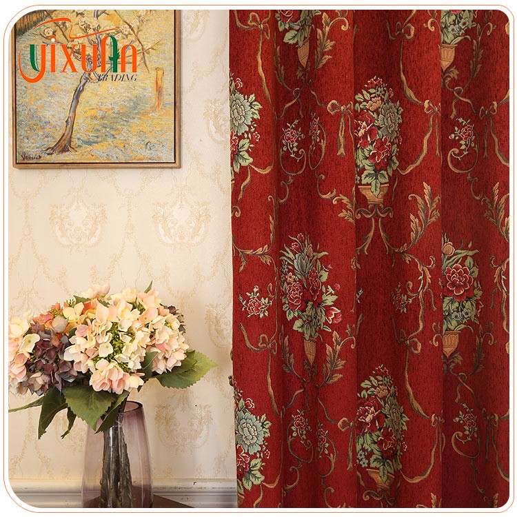 2017 new Chinese wind design luxury blackout curtains
