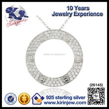 Fashion jewelry power 925 sterling silver sun pendant