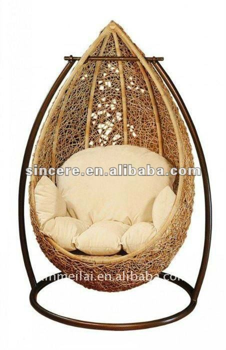 Rattan huevo silla colgante columpios de patio for Silla huevo colgante