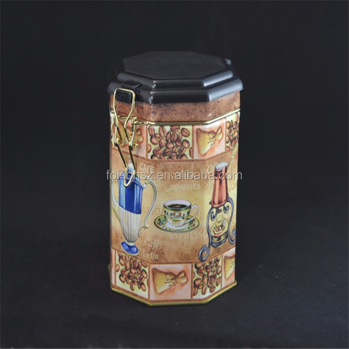 best quality premium metal coffee tea tin can wholesale with airtight plastic lids