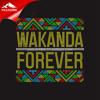 Rhinestone Black Panther Transfer Designs Iron On Wakanda Wholesale