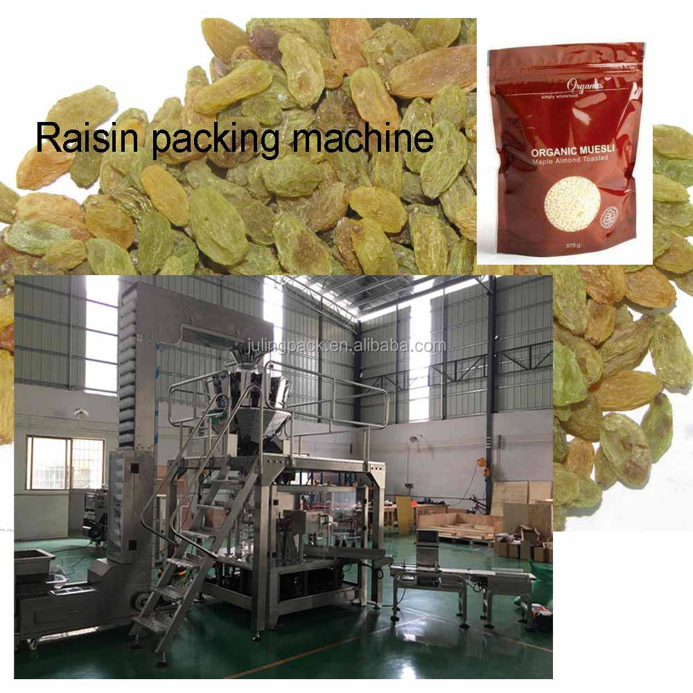 Export standard hot sale full automatic raisin packing machine easy for operation and maintenance