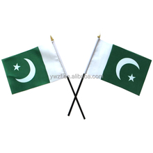 100% polyester 14X21cm Pakistan national hand flag