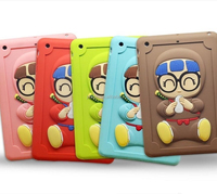 Custom multi-color 3D animal silicone case for ipad mini, silicone protective case for ipad mini