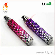 2014 shiny crystal battery e-cigarette ego diamond battery