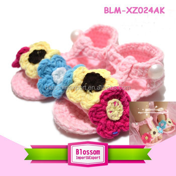 Baby pink design summer wholesale baby christening shoes