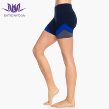 Women Colorblock Breathable Workout Clothing Crossfit Gym Booty Shorts