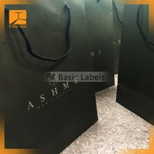 apparel packaging shipping paper bag with logo print
