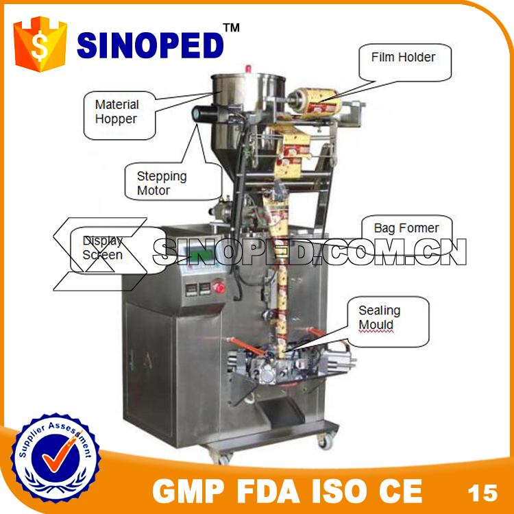 Chinese chocolate , bean plastic packing machine for small business