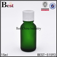 1 / 2 oz green cosmetics packaging hair serum bottle hot wholesale