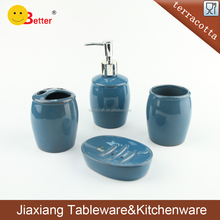 Terracotta Ceramic Bathroom accessories set