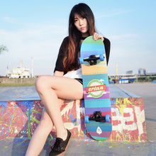 Fashionable canadian maple wood skateboard/wood skateboad for adults cruiser skateboard