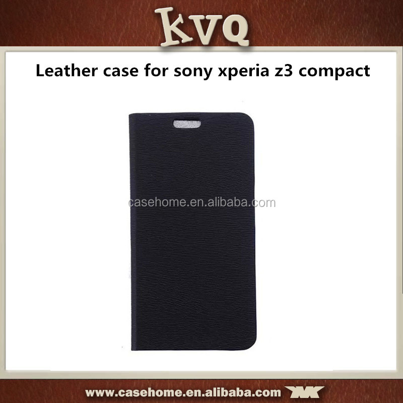 PU Leather Wallet Flip Case Cover for sony xperia z3 compact