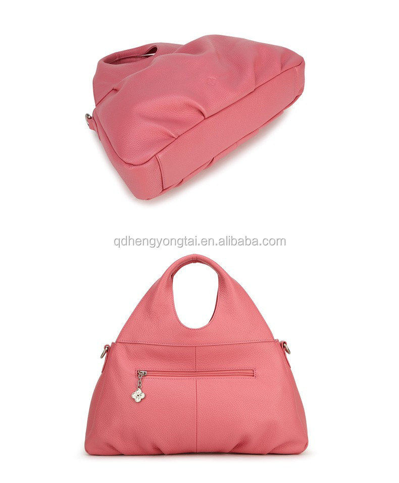 pink PU leather handbag wholesale direct from China