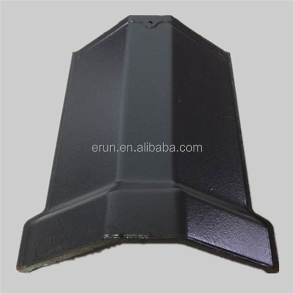 High strength decorative terracotta tiles accessories, glazed clay roof tile ridge cap