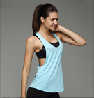 100% cotton custom stringer workout dry fit plain fitness gym tank top women