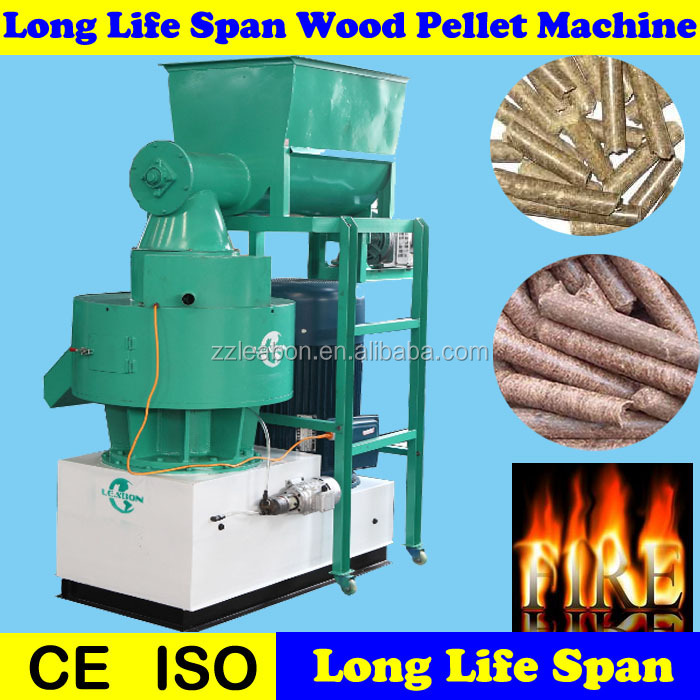 Home Fire Place Use Solid Fuel Energy Wood Pelletizer Machine