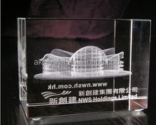 Customized building 3D laser crystal model for souvenir
