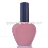 15ML Unique New Product Empty Glass Heart shape Bottles UV Nail Gel Bottle 2015 Wholesale
