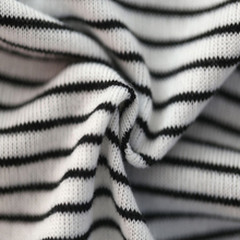 China Market 96% Polyester 4% Spandex Fabric White And Black Stripe Coarse Knit Fabric