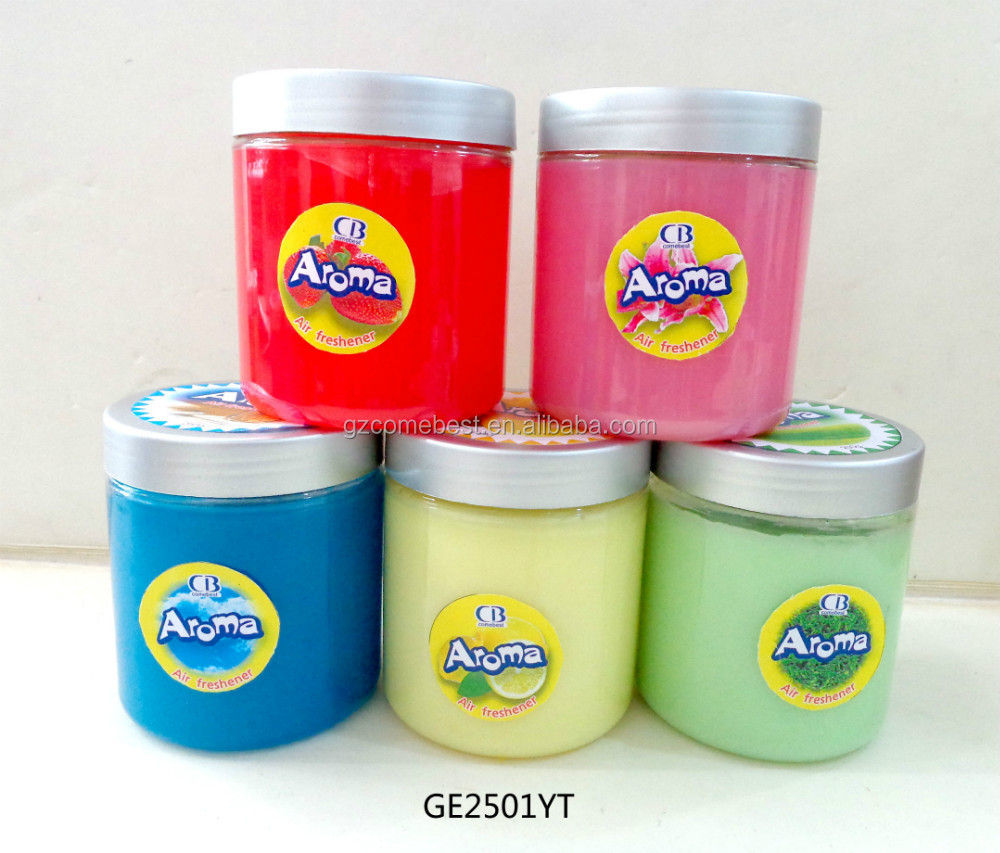 factory direct high rank car gel air fresher with various colors and scents