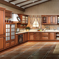 OPPEIN PP Wrapped Kitchen Cabinet Wooden Cabinets Guangzhou Kitchens