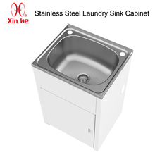Stainless Steel Laundry Tub with cabinet, New Australia 30L 304 Stainless Steel Laundry Sink Cabinet