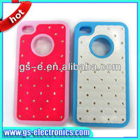 Bling crystal diamond for iphone5 5G PC+silicon starry cover case