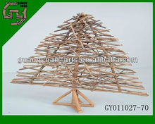 2013 birch flat tower christmas tree decoration