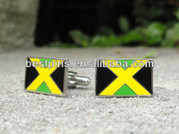 custom Jamaican flag cufflinks