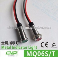 CMP small 6mm metal waterproof ip68 12v dc indicator light