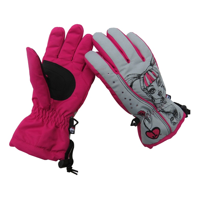 Fashion comfortable polyester lady outdoor ski gloves