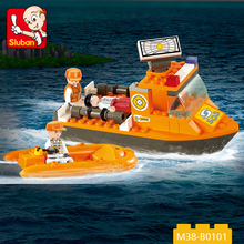 2017 new design hot selling 78 pcs plastic lifeboat set bricks toy boat for wholesale