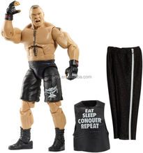 American wrestling action figures with cloth/PVC custom articulated figures/oem making action figure