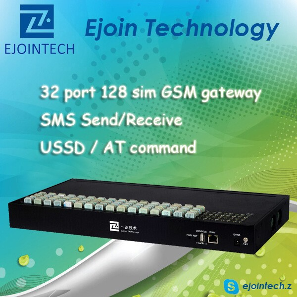 ACOM532-128 Ejoin 32-128 voip gsm gateway with solution to reduce sim block, voip analog telephone adapter