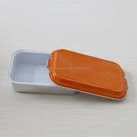 Takeaway rectangular aluminum foil airline food container/tray
