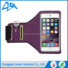 Durable high quality sport running armband phone case for Samsung Galaxy s4 with Key Holder and Card Slot;Purple color